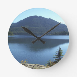 Canadian Scenic Lake Wilderness Photo Clock
