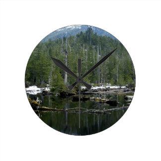 Canadian Scenic Lake Wilderness Photo Clock