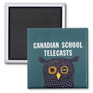 Canadian School Telecasts 2 Inch Square Magnet
