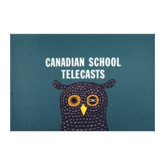 Canadian School Telecasts Canvas Print