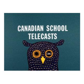 Canadian School Telecasts Postcard