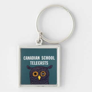 Canadian School Telecasts Silver-Colored Square Keychain