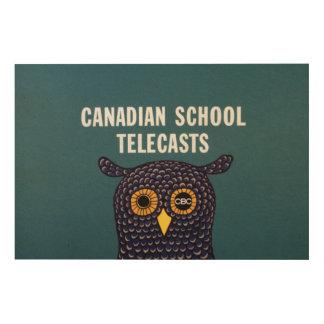 Canadian School Telecasts Wood Print