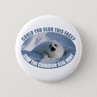 Canadian Seal Hunt Button