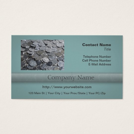 Canadian Silver Coins Business Card