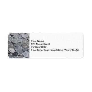 Canadian Silver Coins Return Address Label