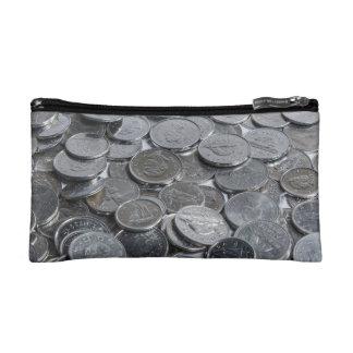 Canadian Silver Coins Makeup Bag