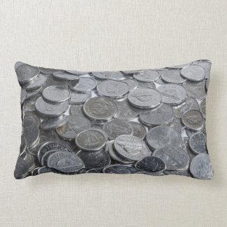 Canadian Silver Coins Throw Pillows