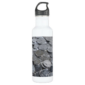 Canadian Silver Coins Stainless Steel Water Bottle