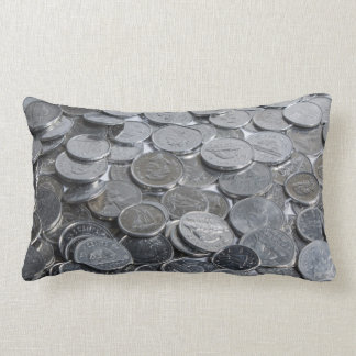 Canadian Silver Coins Throw Pillow