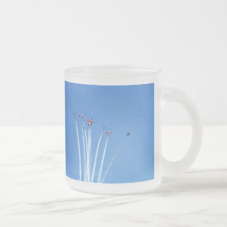 Canadian Snowbirds Planes Frosted Glass Coffee Mug