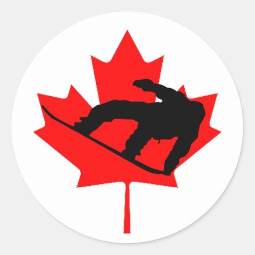 Canadian Snowboarder Sticker
