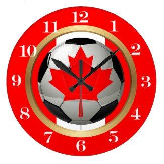 Canadian Soccer Ball Large Clock