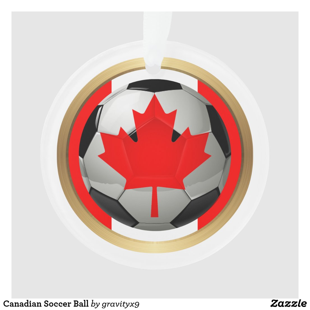 Canadian Soccer Ball Ornament