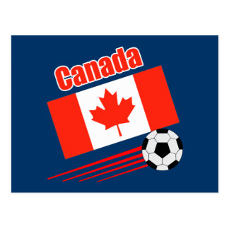 Canadian Soccer Team Postcard