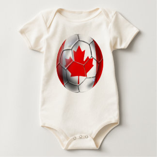 Canadian Soccer The Canucks - Les Rouges Baby Bodysuit