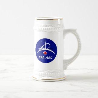 Canadian Space Agency Logo Beer Stein