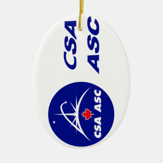 Canadian Space Agency Logo Ceramic Ornament