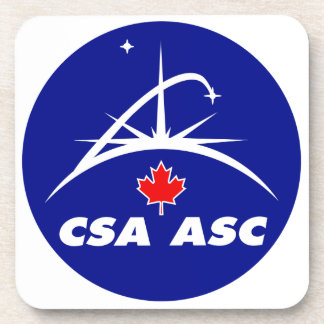 Canadian Space Agency Logo Drink Coaster