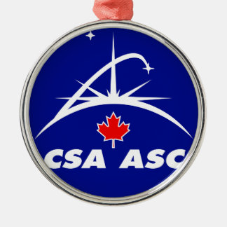 Canadian Space Agency Logo Metal Ornament