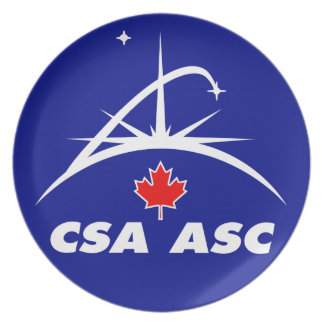 Canadian Space Agency Logo Dinner Plate