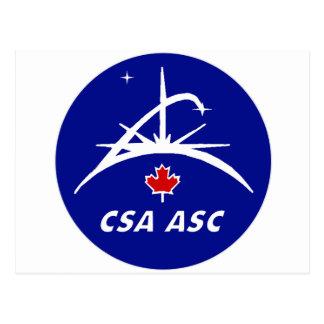 Canadian Space Agency Logo Postcard