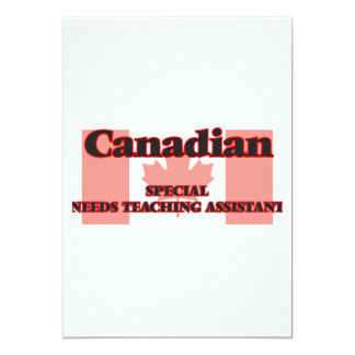 Canadian Special Agent 5x7 Paper Invitation Card