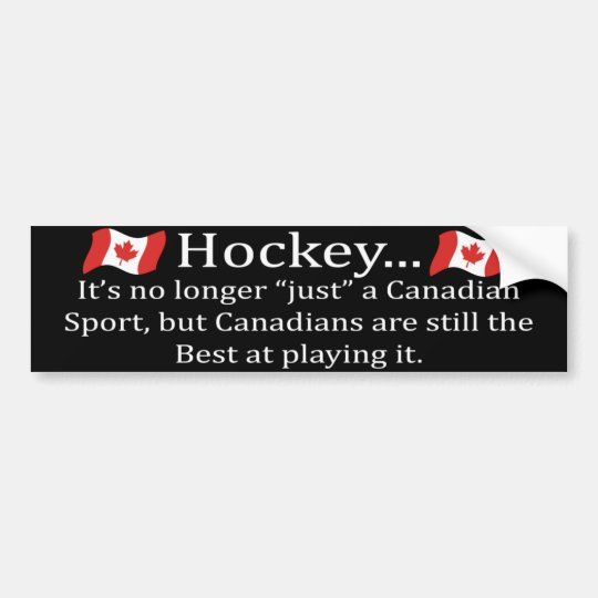 Canadian Sport Bumper Sticker