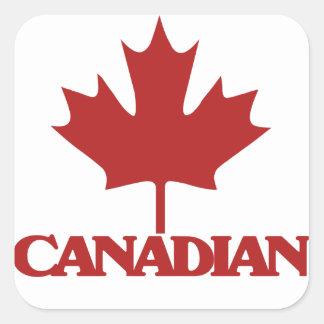 Canadian Square Sticker
