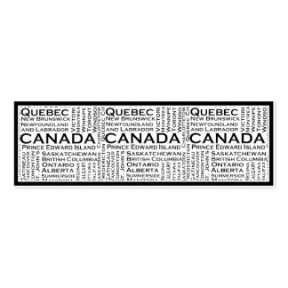 Canadian States & Cities Business Card