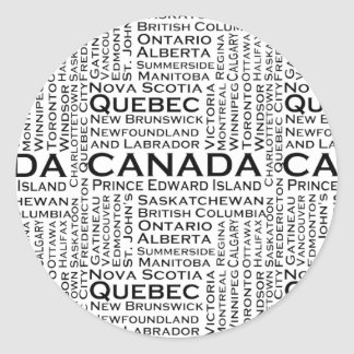 Canadian States & Cities Stickers
