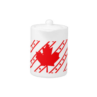 Canadian stripes flag teapot