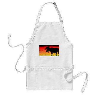 Canadian Sunset Adult Apron