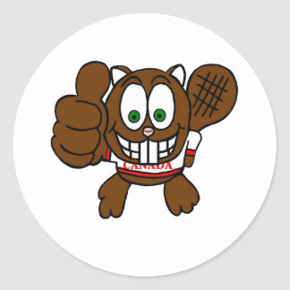 Canadian Thumbs Up Beaver Sticker