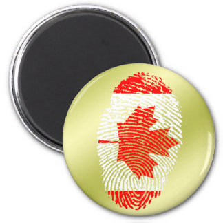 Canadian touch fingerprint flag 2 inch round magnet