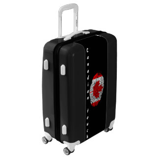 Canadian touch fingerprint flag luggage