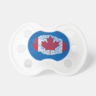 Canadian touch fingerprint flag pacifier