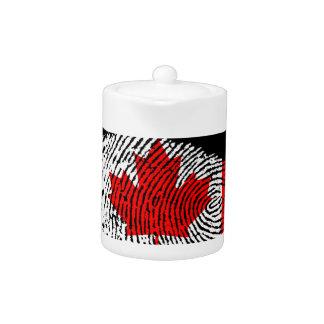 Canadian touch fingerprint flag teapot