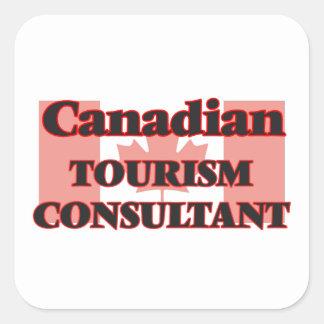 Canadian Tourism Consultant Square Sticker