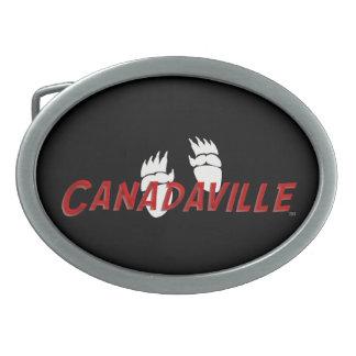 Canadian Tracks Oval Belt Buckle