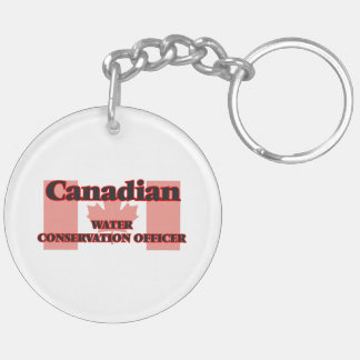 Canadian Water Conservation Officer Double-Sided Round Acrylic Keychain
