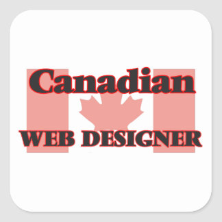 Canadian Web Designer Square Sticker