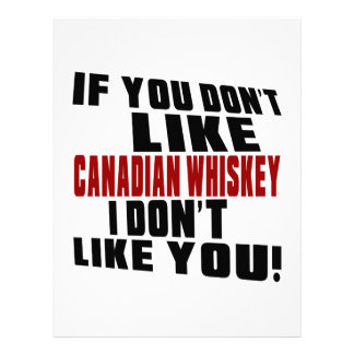 CANADIAN WHISKEY Don't Like Designs Letterhead