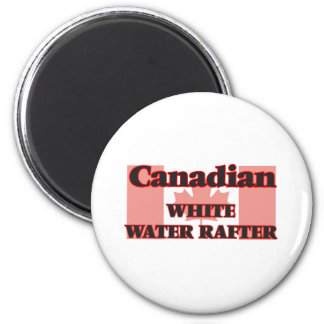 Canadian White Water Rafter 2 Inch Round Magnet