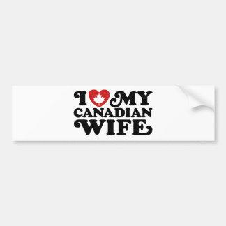 Canadian Wife Bumper Sticker