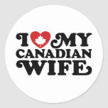 Canadian Wife Classic Round Sticker