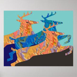 Canadian Wild Deer Poster