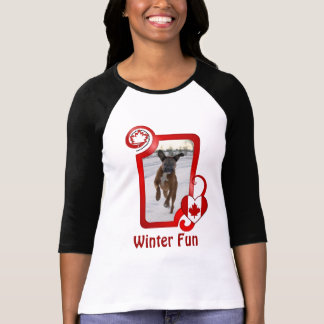 Canadian Winter Fun - Text can be customized Shirt