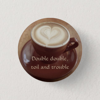Canadian witchy coffee pinback button