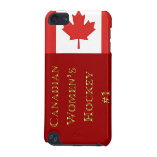 Canadian Womens Hockey #1-Maple Leaf Flag iPod Touch (5th Generation) Case